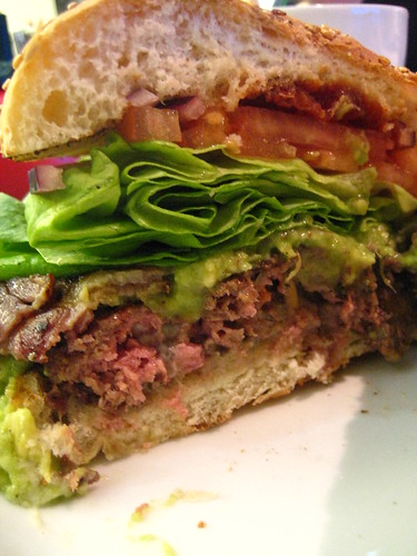 Innards - Avocado and Bacon Beef Burger - GBK