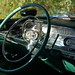 '57 Cadillac at Dairy Joy: driver's console, steering wheel, radio, and chrome chrome chrome