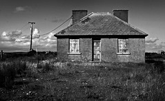 House for sale (Dave Road Records) Tags: ireland blackandwhite landscape infrared mayo countymayo broadhaven lakecarrowmore