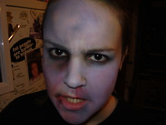 mean-ass zombage (the_dan) Tags: halloween mike grey blood zombie attack makeup gore kelly undead sallow