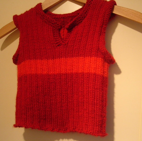 red rib vest front