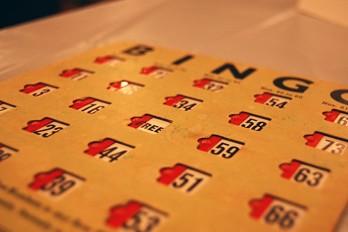 Bingo Board by Catherine V, on Flickr