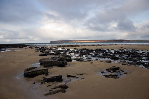 Dunnet head from the beach