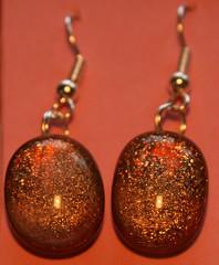 amber sparkle drop earings (JulieRed) Tags: christmas colour glass shine hand handmade decoration jewellery sparkle made earrings beauti