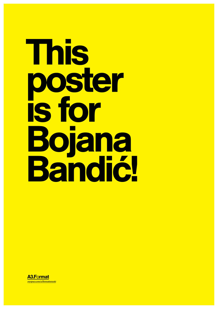 This print is for Bojana Bandić by: Filip Bojović - RS