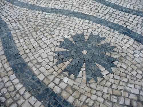 bordados na calçada