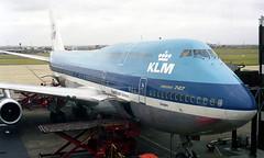 KLM (Royal Dutch Airlines) Boeing 747 PH-BUP (Ganges) terminal at Sydney International Airport, Australia.