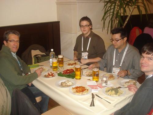 21:45 h, el sopar a lajuntament de Dresden