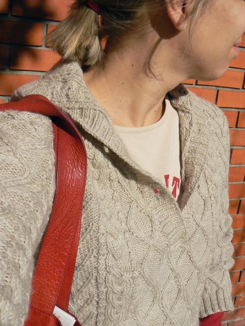 phildar cabled hoodie 2