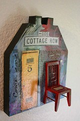 Come In: Art House (lindawoods) Tags: art collage painting assemblage mixedmedia spirithouse arthouse lindawoods lindawoodsetsycom