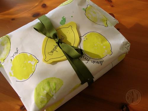 a lemon present for a new bride