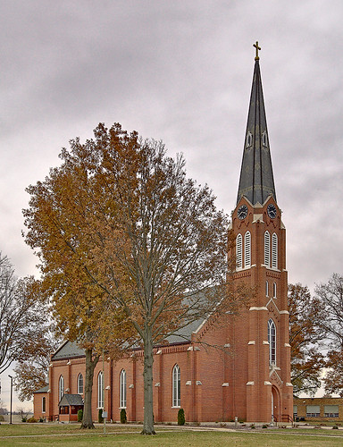 Saint Cecilia Roman Catholic Church, in Bartelso, Illinois, USA - exterior 1