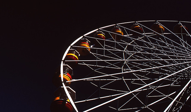 Castle Park Ferris Wheel. Pentax MX, 28mm f2.8, Fuji Velvia 50 Slide Film