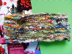 hands down cowl (rosie.ok) Tags: wool scarf rainbow handmade crochet craft yarn handspun cowl