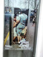 poster in the city of Amsterdam: Helen Levitt In The Street by Jarr Geerligs