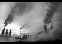 Industry (Ptur Gunn Photograpphy) Tags: bw white black industry station geotagged iceland power smoke steam gas geothermal powerstation sland hydrogen sulfide svartsengi h2s aplusphoto orkuver goldstaraward brennisteinsvetni