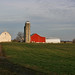 Amish Red Barn in field