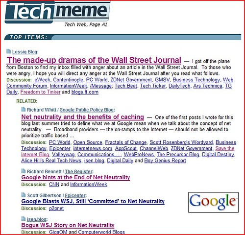 TechMeme Google headlines