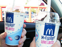We had our Valentines McFlurry! MyLastBite.com