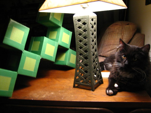 Art, Lamp, Cat