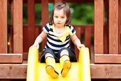 Yellow (ksten) Tags: family yellow us boots slide bow wellies climbingframe maisie canonef135mmf2lusm