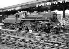 BR class 3MT 2-6-0 no.77004. York. 29 August 1963 (ricsrailpics) Tags: uk steam 1963 class3 260 yorkstation exbr
