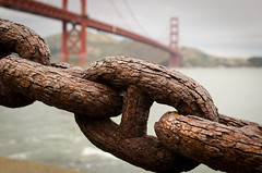 Rusted (morozgrafix) Tags: sanfrancisco old rust decay chain goldengatebridge rusted link cracks links nikon35mmf18g nikond7000 52weeks2011