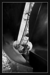London Eye (pugwash00) Tags: blackandwhite bw sculpture london londoneye southbank