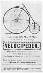 1885 Leveraged Velocipede Burgers (letterlust) Tags: bike bicycle cycling bicicleta burgers cycle bici velo fahrrad vélo fiets velocipede bicicletta radsport oldbicycle wielersport vélocipède rijwiel bicyclehistory veloziped dutchbicyclehistory letterlust