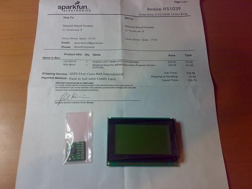 Sensor de pressió i LCD