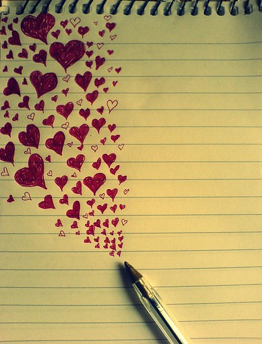 (3) If I was a red biro pen, and you were the page...