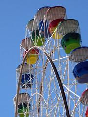 Ferris wheel (auntyhuia) Tags: 2000 harbour sydney sails australia cups points nsw tips ferriswheel lunapark operahouse fins carriages