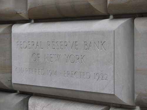 cornerstone at the Federal Reserve Bank of New York