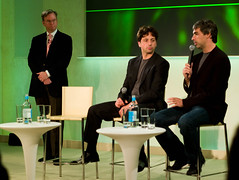 Eric Schmidt,  Sergey Brin and Larry Page