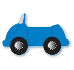 Carro azul (Lucia Helena Cesar) Tags: carro feltro riscos moldes patchcolagem