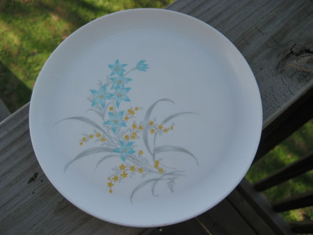 Melmac Blue Flower Plate