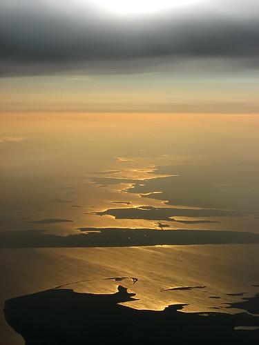 Stunning sunset from 32000 feet over Denmark