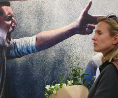 Anger (Dave Gorman) Tags: woman poster gun tube stranger billboard violence londonunderground threat