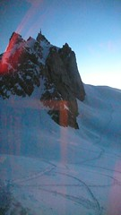 Sunset at the Cosmiques (chaletlaforet) Tags: mountaineering chamonix aiguilledumidi cosmiquesarte