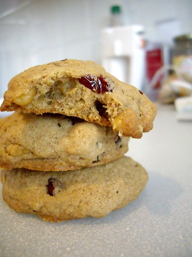 Whole Wheat Cranberry Walnut Cookies