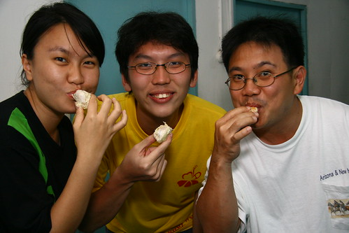 Feasting on durian!!