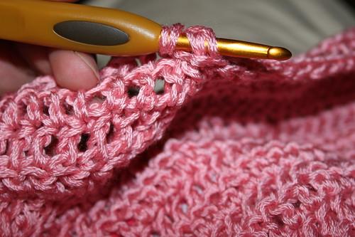 more detail on flower blanket