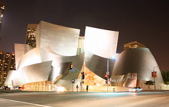 Walt Disney Concert Hall, Los Angeles (kuzuco) Tags: architecture night losangeles goodness bmw waltdisneyconcerthall ilovelosangeles frankgherry