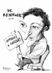 DE BEAUVOIR, Simone (Morales de los Ros) Tags: writers caricaturas philosophers caricatures escritores filsofos