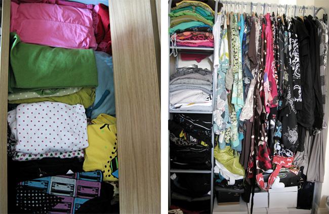 Organising my wardrobe