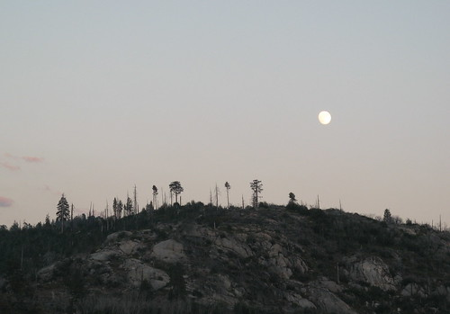 Moon over Hetch Hetchy
