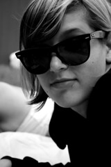 Katelin (victoria.anne) Tags: bw sunglasses wonderful katelin