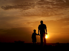 father & son (f i  a s) Tags: sunset male silhouette dead island gold evening asia walk father capital crab dry son nelson terror terrorism maldives pathetic apathy mandela apartheid dhivehi saarc raajje uniquemaldives firax