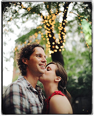 The Whole Wide World (Ryan Brenizer) Tags: nyc newyorkcity wedding woman man love smile lights groom bride engagement nikon kiss bokeh manhattan soho sigma30mmf14dc gothamist d3 eveanddan