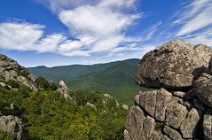 Summer on Old Rag (Websphotos) Tags: trees summer clouds virginia rocks angle wide wideangle shenandoah webster mountians oldragmountain oldrag naturesfinest tokina116 tokina111628 websphotos